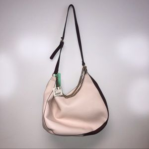 NWT Zara blush shoulder bag w chains